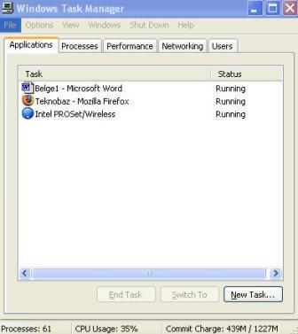 Microsoft Windows Task Manager