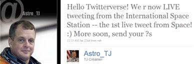 uzay ilk twitter mesaj