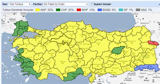 [Teknobaz] 12 Haziran 2011 seçim sonuçları