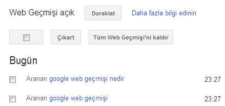 [Teknobaz] Google web geçmişi