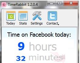 TimeRabbit:Facebook'ta Ne Kadar Zaman Harcıyorsun Öğren [İndir]