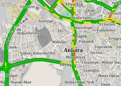 Başar Trafik-Trafik Yoğunluğu, Yol Durumunu Öğren