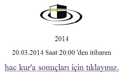 2014 Yılı Hac Kura Sonucunu Öğren