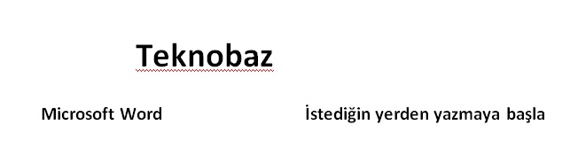 [Teknobaz] Microsoft Word Yazı