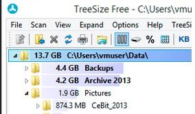 TreeSize-Bilgisayarın Harddiskindeki Dosyaların Boyutlarını Gösteren Program [İndir]