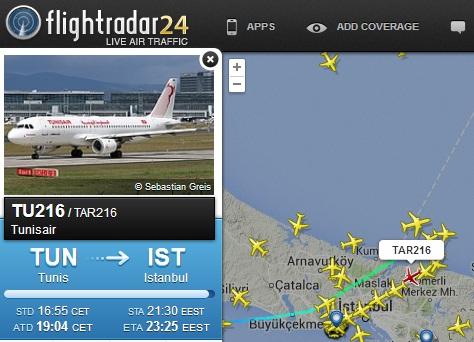 Flightradar24-Uçak Radarı İle Uçuş Bilgilerini Haritada Canlı Gör
