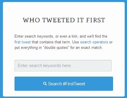 Bir Konuda İlk Tweet'i Kim, Ne Zaman Atmış Öğren