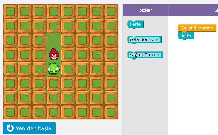 Çocuklara Bilgisayar Programı Kodu Yazmayı Oyunlarla Öğret