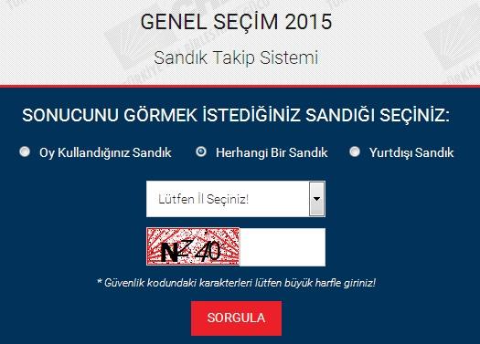 2015 Yılı Oy Kullandığın Sandık Seçim Sonuçlarını Öğren