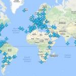 Dünya Havaalanları Ücretsiz Wi-Fi Şifreleri Haritası