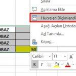 Excel 2016- Belli Bir Hücrenin Başkaları Tarafından Değiştirilmesini Engellemek