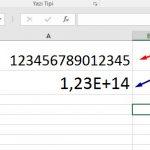 MS Excel – Bir Hücreye 12 ve Daha Fazla Basamaklı Sayı Nasıl Girilir?