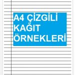 A4 Çizgisiz Kağıt Altına Koyabileceğiniz Koyu Çizgili Word Kağıt Örneği [indir]